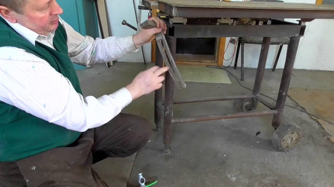 Как сделать подъемный стол для циркулярки видео 14