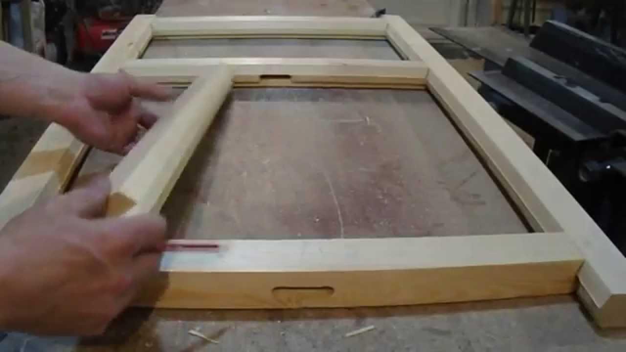 Изготовление оконной рамы своими руками видео